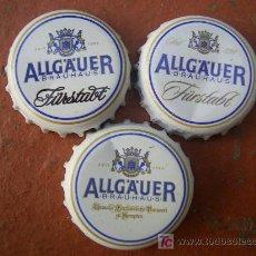 Coleccionismo de cervezas: 3 CHAPAS CERVEZA ALLGÄUER -ALEMANIA--------LOTE N. 211------------CARMANJO. Lote 15195184