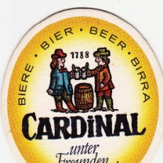 Coleccionismo de cervezas: POSAVASOS.-POSAVASO.- CERVEZA CARDINAL.-. Lote 16586931