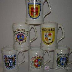 Coleccionismo de cervezas: ANTIGUAS JARRAS PARA CERVEZA. Lote 23594571