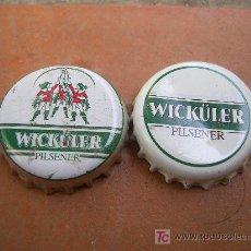 Coleccionismo de cervezas: 2 CHAPAS CERVEZA WICKÜLER-ALEMANIA-.-----------------LOTE N. 659------------CARMANJO. Lote 17538663