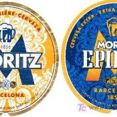 Coleccionismo de cervezas: ETIQUETAS CERVEZA MORITZ Y CERVEZA MORITZ EPIDOR. BARCELONA. BIÈRE.. Lote 161128177