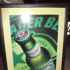 Coleccionismo de cervezas: CUADRO CERVEZA HEINEKEN. Lote 27476502
