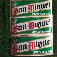 Coleccionismo de cervezas: SAN MIGUEL-PEGATINAS AÑOS 80- 33X14CM-. Lote 22349870