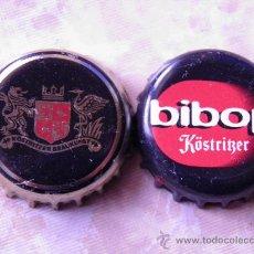 Coleccionismo de cervezas: 2 CHAPAS CERVEZA KÓSTRITZER. ALEMANIA.------LOTE N.890------CARMANJO. Lote 23236807