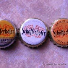 Coleccionismo de cervezas: 3 CHAPAS CERVEZA SCHÖFFERHOFER. ALEMANIA.-----LOTE N. 892----------CARMANJO. Lote 23237014