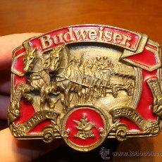 Collezionismo di birre: HEBILLA DE CINTO BUDWEISER KING OF BEERS. Lote 25923199