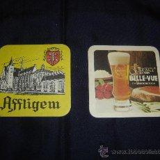 Coleccionismo de cervezas: POSAVASOS CERVEZAS AFFLIGEM Y BELLE VUE. DE COLECCION. Lote 26310032