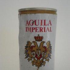 Coleccionismo de cervezas: BOTE-LATA CERVEZA *AGUILA IMPERIAL* 35 CL. (DOS TAPAS Y LATERAL SOLDADO). Lote 26985133
