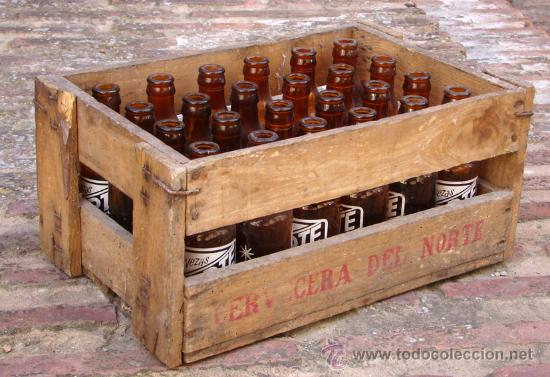Antigua caja de madera de botellas de cerveza n comprar - Cajas de madera para botellas ...