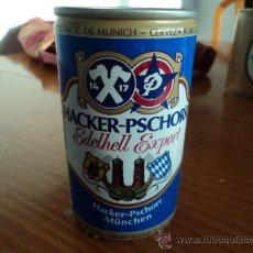Coleccionismo de cervezas: LATA BOTE DE CERVEZA HACKER PSCHORR. AÑOS 80.. Lote 27541788