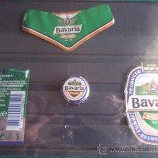 Coleccionismo de cervezas: ETIQUETAS Y CHAPA-BAVARIA-HOLLAND. Lote 28270880