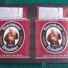 Coleccionismo de cervezas: ETIQUETAS -FRANZISKANER-GERMANY. Lote 28271052