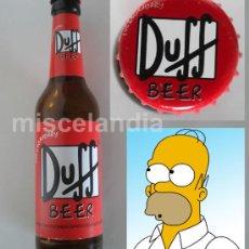 Coleccionismo de cervezas: DUFF BEER, LA CERVEZA FAVORITA DE HOMER SIMPSON --- 1 BOTELLA... VACÍA (LO SIENTO) --- PERFECTA. Lote 28285383