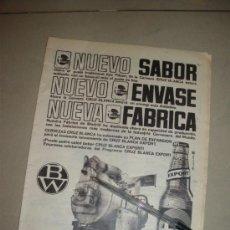 Coleccionismo de cervezas: PUBLICIDAD DE CERVEZA CRUZ BLANCA.. Lote 28881660