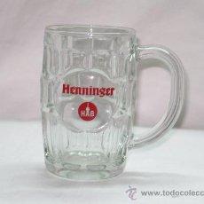 Coleccionismo de cervezas: JARRA CERVEZA HENNINGER, LETRAS ROJAS. Lote 29665550