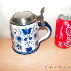 Coleccionismo de cervezas: JARRA DE CERVEZA ALEMANA. TAPA DE ZINC : . Lote 29735443