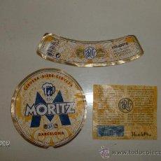 Coleccionismo de cervezas: ETIQUETA BOTELLA 33CL.CERVEZA MORITZ BARCELONA. Lote 189496591
