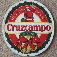 Coleccionismo de cervezas: ETIQUETA DE CERVEZA DE LA MARCA CRUZCAMPO. NAVIDAD 1995. 33 CL.. Lote 221962415