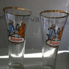 Coleccionismo de cervezas: 2 VASOS CERVEZA SALVATOR MUNICH. Lote 30723947