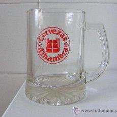 Coleccionismo de cervezas: 1 VASO O JARRA CERVEZA AÑOS 80 - CERVEZAS ALHAMBRA. Lote 37183391