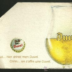 Coleccionismo de cervezas: POSAVASOS DE CARTÓN - CERVEZA BELGA DUVEL. Lote 33660310