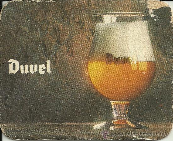 POSAVASOS DE CARTÓN - CERVEZA BELGA DUVEL (Coleccionismo - Botellas y Bebidas - Cerveza )
