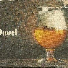 Coleccionismo de cervezas: POSAVASOS DE CARTÓN - CERVEZA BELGA DUVEL. Lote 33660320