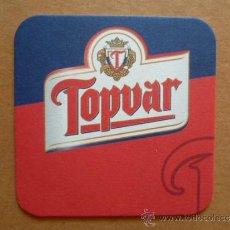 Coleccionismo de cervezas: POSAVASOS DE CERVEZA TOPVAR DE ESLOVAQUIA (NUEVO). Lote 33966037