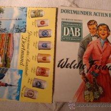 Coleccionismo de cervezas: 2 TARJETAS POSTALES ORIGINALES DE PUBLICIDAD DE CERVEZA DAB DORTMUNDER ACTIEN BIER, CA. 1940/50. Lote 34103988