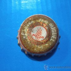 Coleccionismo de cervezas: CHAPA CERVEZA SAN MIGUEL.PILSENER.LETRAS BLANCAS,FONDO DORADO.. Lote 34551202