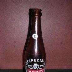 Coleccionismo de cervezas: ANTIGUA BOTELLA ESPECIAL MORITZ CERVEZA EPIDOR BARCELONA CASANOVAS 2 LITOGRAFIADA . Lote 65449773