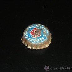Coleccionismo de cervezas: CHAPA DE CERVEZA ALHAMBRA DE GRANADA. TRASERA DE CORCHO.. Lote 53643896