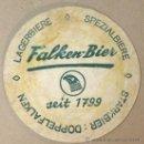 Coleccionismo de cervezas: POSAVASOS. FALKEN BIER. SEIT 1799. . Lote 36709490