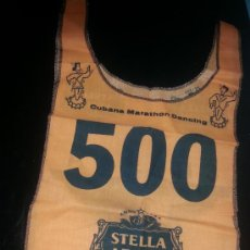 Coleccionismo de cervezas: PETO STELLA ARTOIS LA CUBANA MARATHON DANCING. Lote 36778079