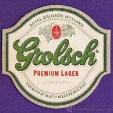 Coleccionismo de cervezas: POSAVASOS - CERVEZA - GROLSCH - PREMIUM LAGER - HOLANDA - VER FOTO REVERSO REVERSO. Lote 38676919