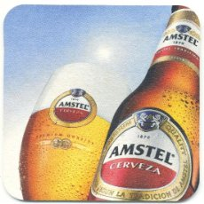 Coleccionismo de cervezas: POSA VASOS CERVEZA – AMSTEL. Lote 293934388