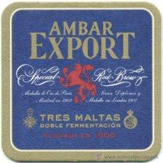 Coleccionismo de cervezas: POSA VASOS CERVEZA – AMBAR EXPORT. Lote 293934303
