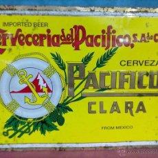 Coleccionismo de cervezas: CHAPA ESTAMPADA CERVEZA PACIFICO. Lote 39409582
