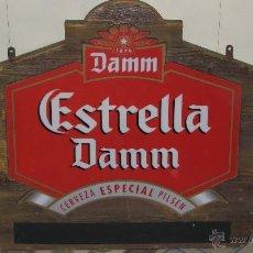 Coleccionismo de cervezas: CARTEL PUBLICITARIO DE CERVEZA ESTRELLA DAMM. Lote 146311262