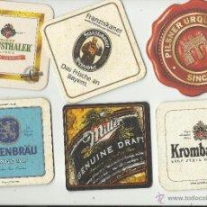 Coleccionismo de cervezas: 6 POSAVASOS DE CERVEZAS. Lote 40155660