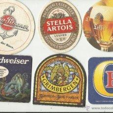 Coleccionismo de cervezas: 6 POSAVASOS CERVEZAS. Lote 40157071