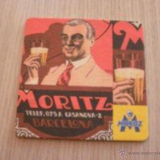 Coleccionismo de cervezas: POSAVASOS CERVEZA MORITZ. Lote 40390900