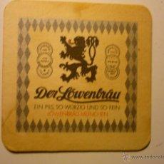 Coleccionismo de cervezas: POSAVASOS CARTON DURO DER LOWENBRAU.-. Lote 40457898