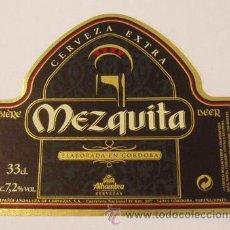 Coleccionismo de cervezas: ETIQUETA CERVEZA MEZQUITA 33CL.. Lote 40771866