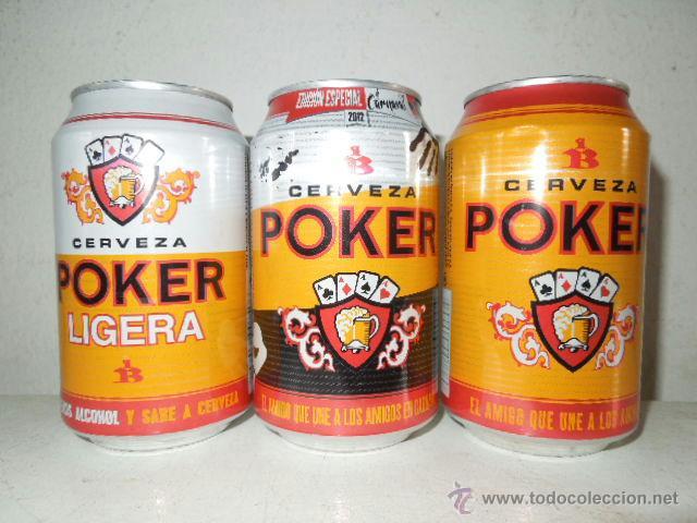 Cerveza poker lata precio
