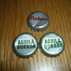 Coleccionismo de cervezas: 3 CHAPAS CERVEZA AGUILA Y MAHOU AÑOS 80 NUEVAS LOTE 2. Lote 41322821