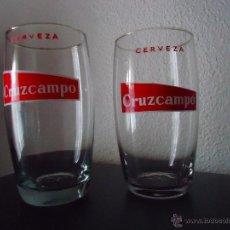 Coleccionismo de cervezas: DOS VASOS CERVEZA CRUZCAMPO. Lote 41385104