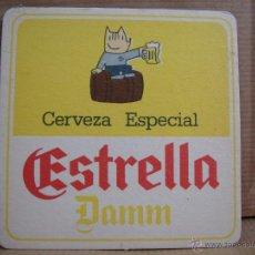 Coleccionismo de cervezas: ANTIGUO POSAVASOS CARTON DURO - CERVEZA ESTRELLA DAMM - COBI BARCELONA 92 ¡¡¡ NUEVO ¡¡¡ POSAVASO. Lote 49529626