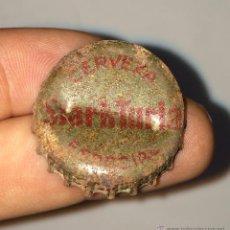 Coleccionismo de cervezas: ANTIGUA CHAPA DE CERVEZA STARK TURIA ESPECIAL CON CORCHO. Lote 41559110