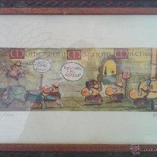 Coleccionismo de cervezas: LITOGRAFIA CUADRO DE FER DIBUJANTE COMIC VIÑETA DE EL JUEVES PARA CERVEZA ESTRELLA MOMENTUM MAGNUM. Lote 41873245